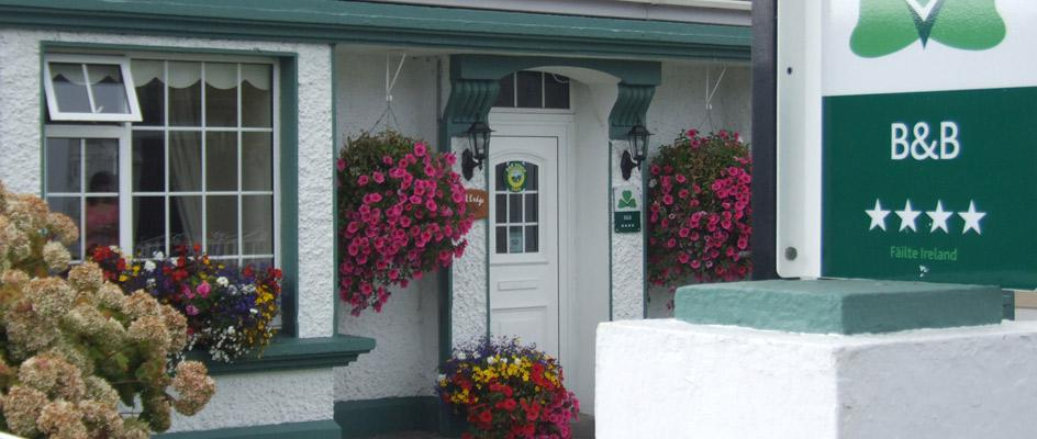 Outside of Oak Lodge Portumna Guest House, just a stone's throw from Portumna Castle
